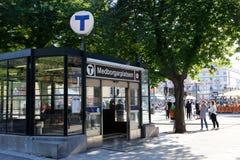 Stockholm tunnelbanastation Medborgarplatsen royaltyfria bilder