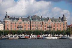Stockholm-Ufergegend Stockbilder