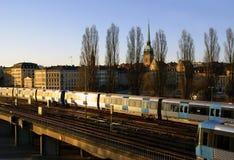 Stockholm-Untergrundbahn Lizenzfreie Stockfotografie
