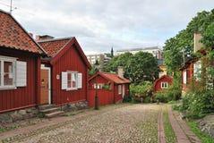 Stockholm. Vieille rue Images libres de droits