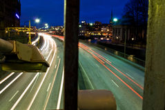 Stockholm view. View of Stockholm in the winter night Royalty Free Stock Photo