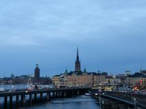 Stockholm view on city Royalty Free Stock Photography