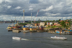 Stockholm view. Stockholm city on 2015 July Royalty Free Stock Images