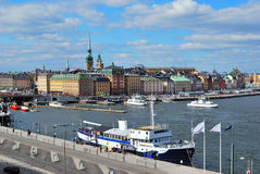 Stockholm. View of the Old Town and Slussen Royalty Free Stock Images