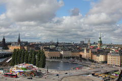 Stockholm view from the Södermalm stock photography