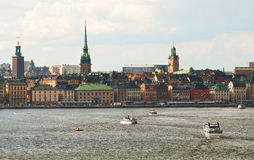 Stockholm, view from the sea Stock Image