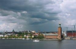 Stockholm vor dem Regen Stockbilder