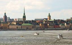 Stockholm, vue de la mer Image stock
