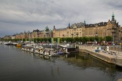 Stockholm waterfront Stock Images