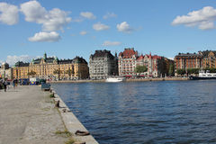 Stockholm waterfront, Sweden royalty free stock photos