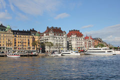 Stockholm waterfront, Sweden royalty free stock photography