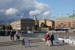 Stockholm waterfront, Sweden stock photography
