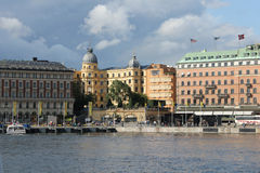 Stockholm waterfront, Sweden stock photo