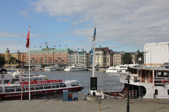 Stockholm waterfront, Sweden royalty free stock image