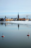 Stockholm in winter Royalty Free Stock Photo