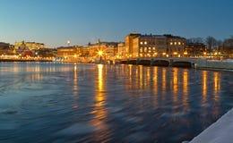 Stockholm winter night. Stock Photos