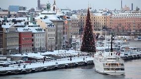 Stockholm in the winter, Sweden stock video footage