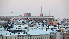 Stockholm in the winter, Sweden stock footage