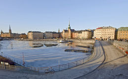 Stockholm in winter time Royalty Free Stock Image
