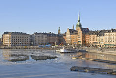 Stockholm in winter time Royalty Free Stock Photo