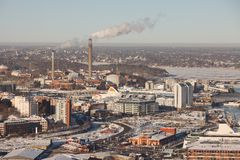 Stockholm winter view Royalty Free Stock Images