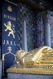 STOCKHOLM, ZWEDEN - AUGUSTUS 20, 2016: Cenotaaf van Birger Jarl Bi Stock Afbeeldingen