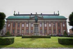 STOCKHOLM, ZWEDEN - AUGUSTUS 19, 2016: Mening over Monument van Axel Ox Stock Afbeeldingen