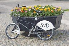 Stockholm, Zweden - de Post van de Fietshuur Stock Foto