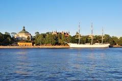 Stockholm, Zweden. Eiland Skepsholmen royalty-vrije stock foto