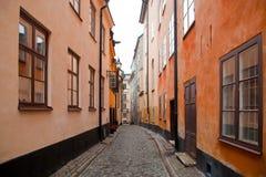 Stockholm, Zweden. Gebouwen in de oude stad Stock Foto's