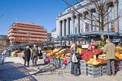 Stockholm. Zweden. Hötorget (het Vierkant van het Hooi) royalty-vrije stock fotografie