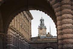 STOCKHOLM ZWEDEN 21 Mei 2016: De kerk van Sinterklaas is olde Stock Afbeelding