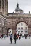 STOCKHOLM ZWEDEN 21 Mei 2016: De kerk van Sinterklaas is olde Royalty-vrije Stock Foto