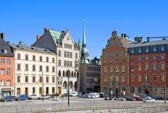 Stockholm zweden Mening van Gamla Stan Royalty-vrije Stock Fotografie