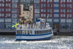 Stockholm Zweden: Passagiersveerboot M/S Kung Ring Stock Afbeeldingen