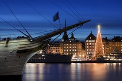 Stockholms gammal stad arkivfoton