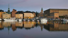 Stockholms old city stock footage