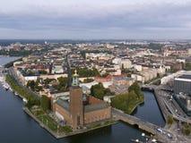 Stockholms Stadshus. Stockholm City Hall and the island Kungsholmen. Stockholm, Sweden stock image