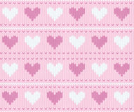 Stocking background with hearts Stock Image