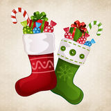 Stocking with gifts Royalty Free Stock Image