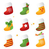 Stocking set Royalty Free Stock Photos