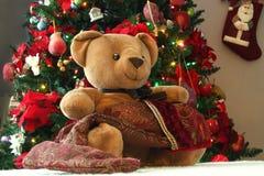 Stocking Teddy Stock Photography