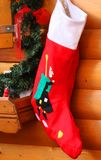 Stockings of the befana in wooden wall hanging Stock Photo