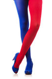 Stockings of french flag colours Royalty Free Stock Photography