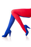 Stockings of french flag colours Stock Photos