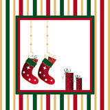 Stockings and gifts Royalty Free Stock Photo