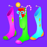 Stockings hanging Royalty Free Stock Images