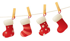 Stockings on a Line Stock Image