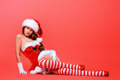 Stockings red Royalty Free Stock Photo