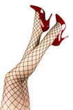 Stockings and red shoes Stock Photography